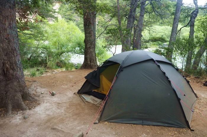 Chile - We camped beside the River Futaleufú at Puerto Espolon