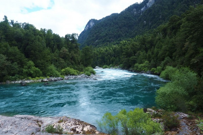 Chile - The fast flowing River Futaleufú