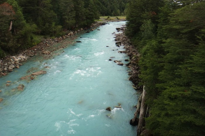 Chile - The Carreterra Austral followed the River Frio (the River 'Cold')