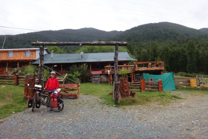 Chile - This roadside accommodation was too inviting to pass up on a cold, wet day!