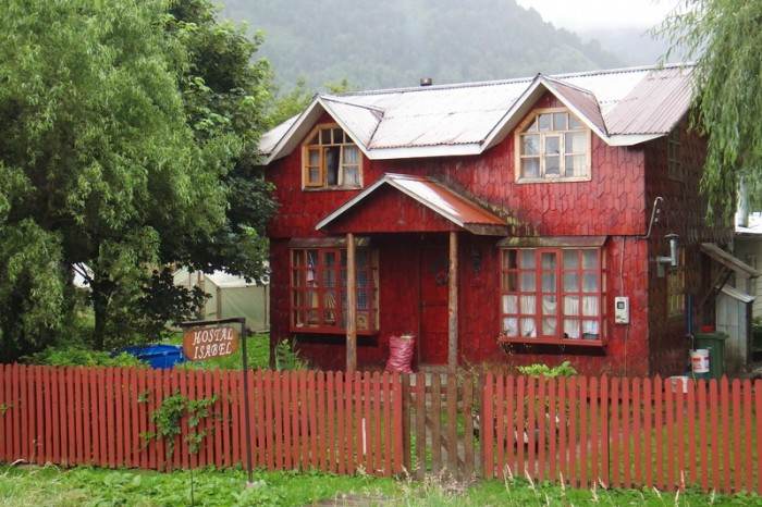 Chile - Interesting architecture in chilly Puyuhuapi