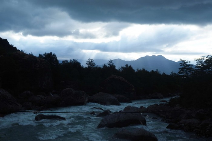 Chile - Hiking back from the glacier at Parque Nacional Queulat
