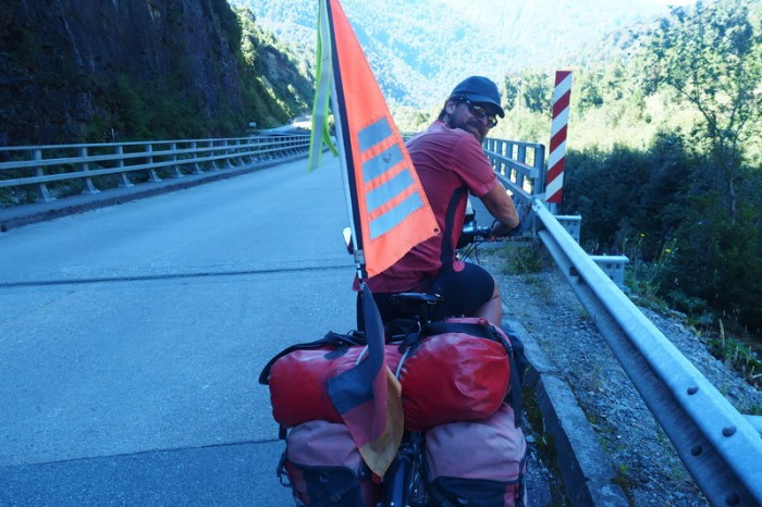 Chile - David on our way to Coyhaique along the Carreterra Austral