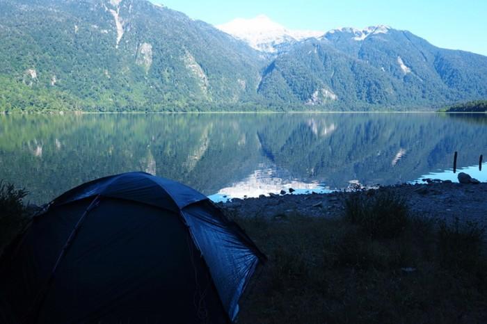 Chile - Camping beside Laguna de Las Torres