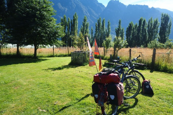 Chile - The lovely campground, Camping Las Torres del Simpson