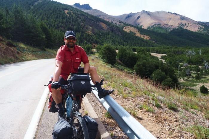 Chile - David on the way to Villa Cerro Castillo