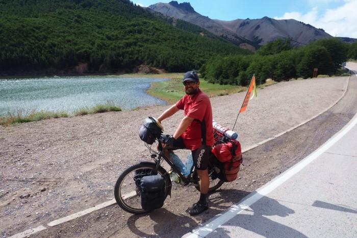 Chile - David beside Lake Chiguay