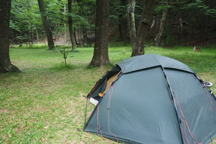 Chile - Our Conaf Campsite at Lake Chiguay