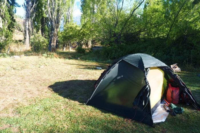 Chile - Our campground in Villa Cerro Castillo