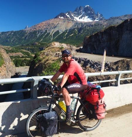 Chile - David on the way to Puerto Rio Tranquilo