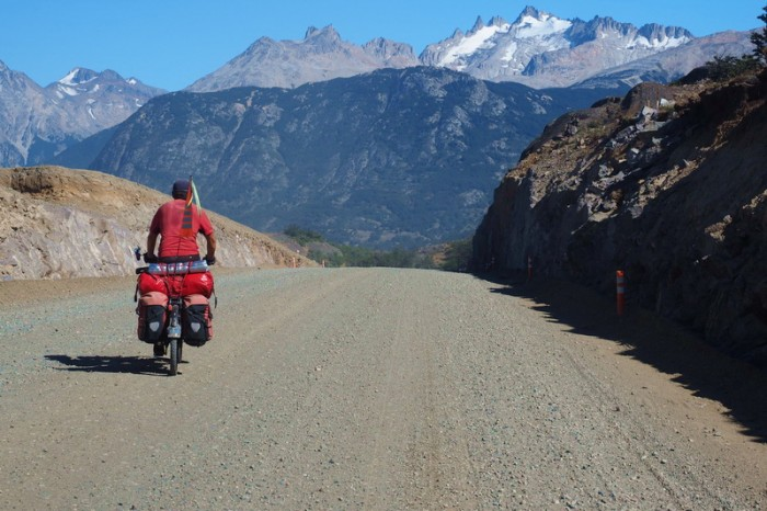 Chile - Leaving Villa Cerro Castillo it was all dirt roads to the end of the Carretera Austral ...
