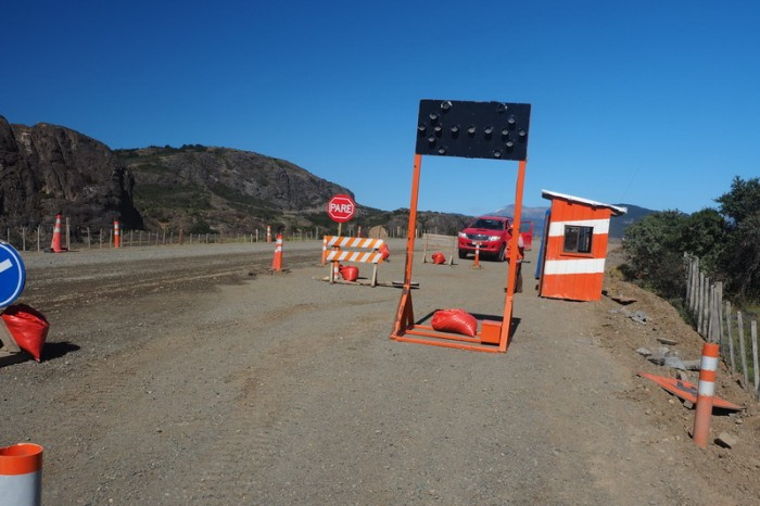 Chile - Road works along the Carreterra Austral