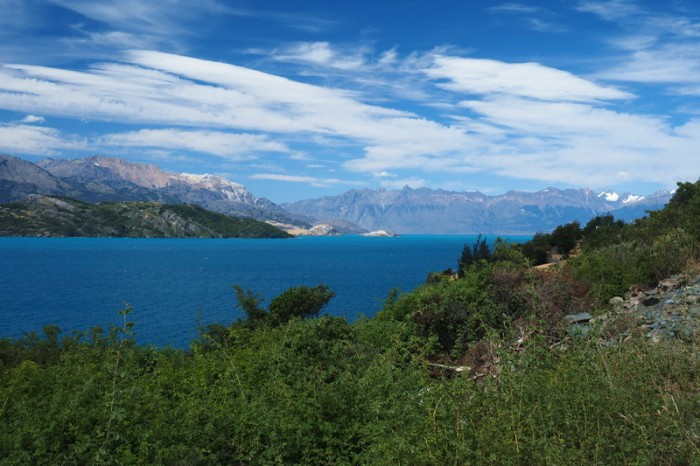 Chile - Cycling beside Lake General Carrera
