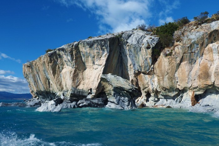 Chile - Marble caves near Puerto Rio Tranquillo