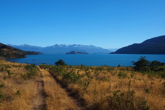 Chile - Views of Lake Grand Carrera from Bahia Catalina