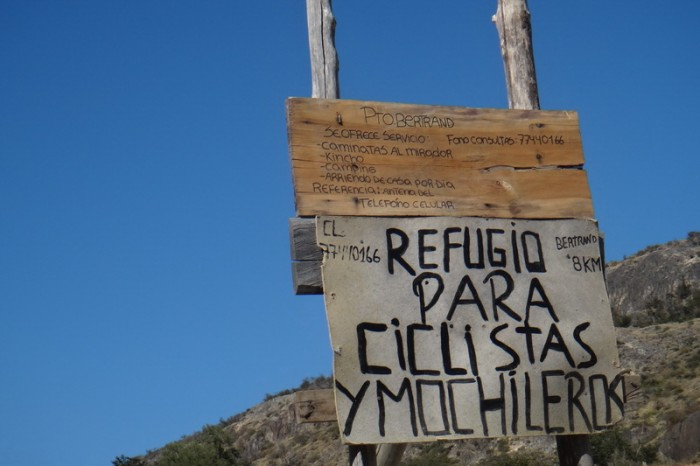 Chile - We came across this Refugio for Cyclists on the way to Cochrane
