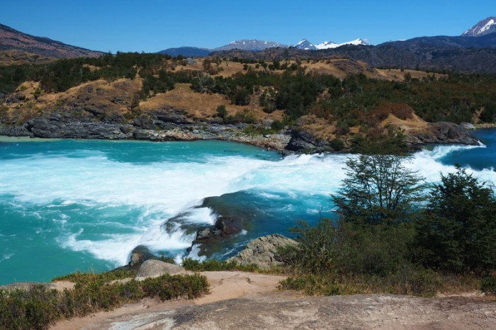 Chile - The confluence of the Rivers Baker and Neff - wonderful to see!