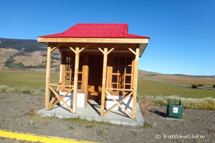 Chile - These little shelters were a welcome respite from the wind - and a sign of the wealth in the area