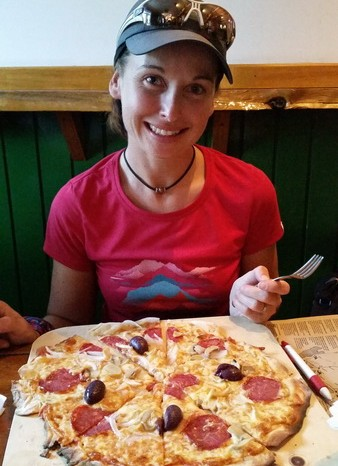 Chile - The pizzas at Base Camp (Erratic Rock) were a real treat for hungry cyclists!