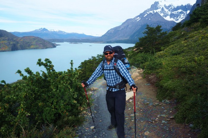 Chile - Day 4:  Hiking the Q Loop - Torres del Paine - Overlooking Lago Nordenskjold