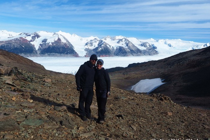 Chile - Day 7: Hiking the Q Loop - Torres del Paine - On top of the Pass overlooking Glacier Grey