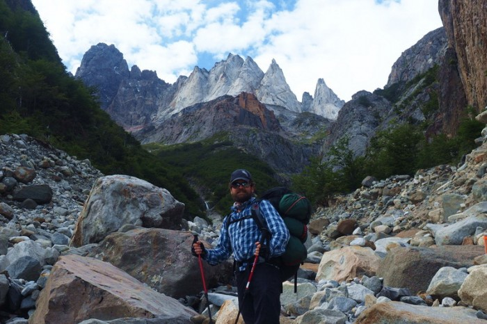 Chile - Day 7: Hiking the Q Loop - Torres del Paine - On the way to Camp Grey