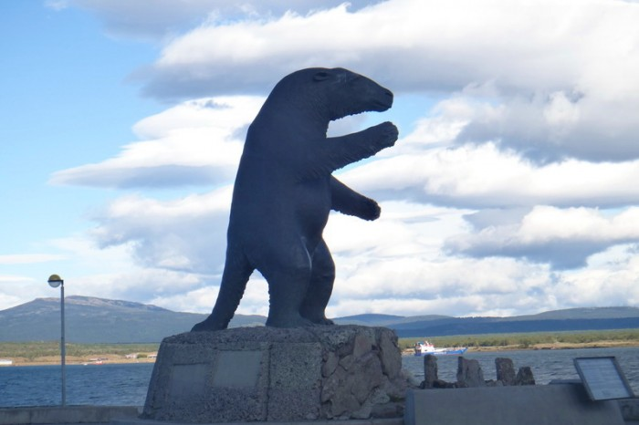 Chile - Milodon statue, Puerto Natales