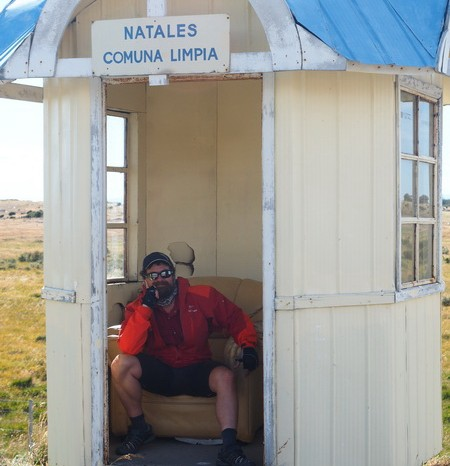 Chile - These little bus stops made good break spots and provided much needed shelter from the wind