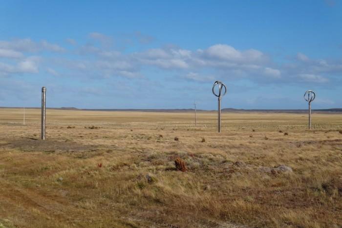 Chile  - Monumento al Viento, Monument to the wind near Punta Arenas