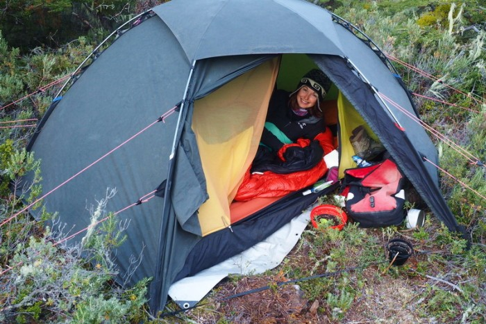 Chile - Our wild camp on the way to Punta Arenas - I loved this campsite!