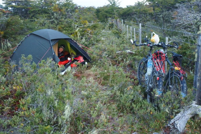 Chile - Our wild camp on the way to Punta Arenas
