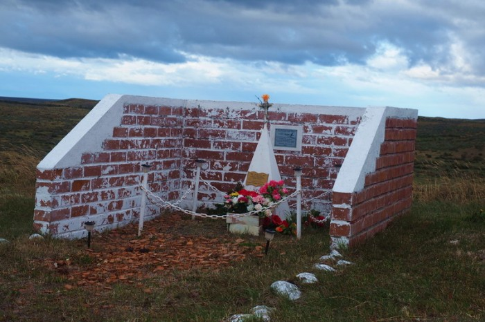 Chile - A shrine on the way to Punta Arenas