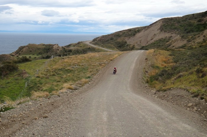 Chile - More gravel roads on our way to the border and San Sebastian