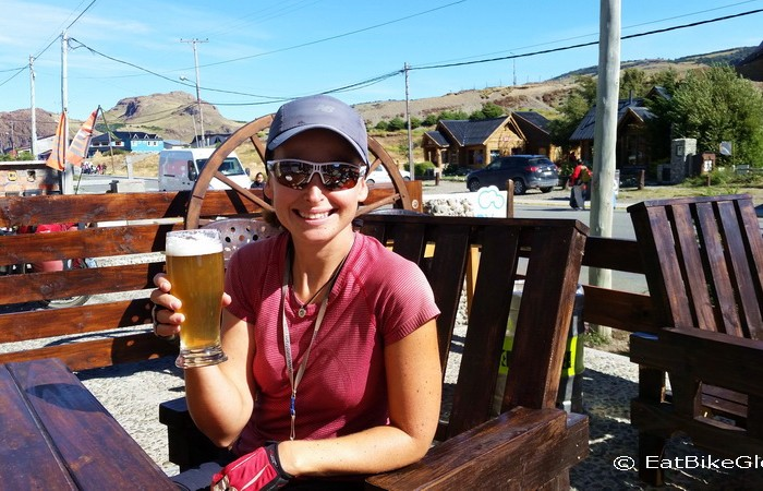 Argentina - Enjoying a well earned beer in El Chaltén!