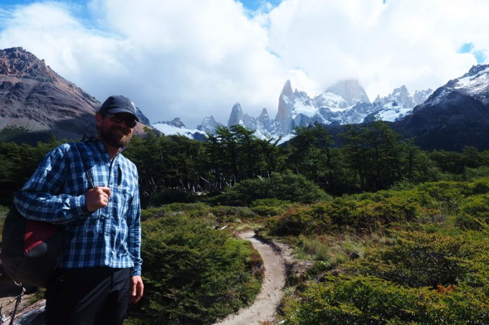Argentina - David on the hike to Laguna de Los Tres,  near El Chaltén!