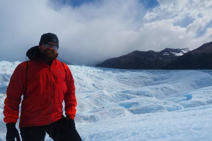 Argentina - David exploring Perito Moreno Glacier, Parque Nacional Los Glaciares