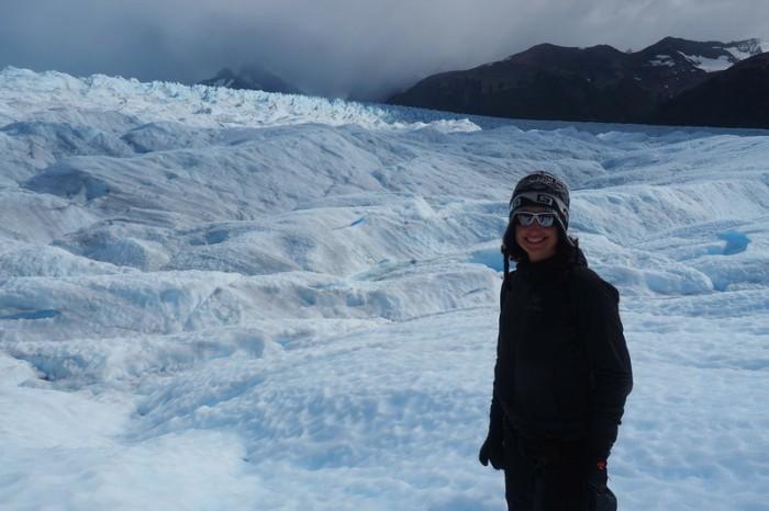 Argentina - Jo exploring Perito Moreno Glacier, Parque Nacional Los Glaciares